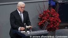 Deutschland l Zentrale Gedenkfeier zum Volkstrauertag im Bundestag - Bundespräsident Frank Walter Steinmeier