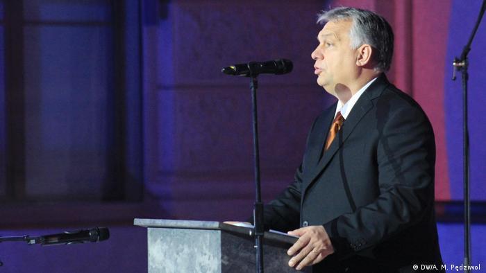 Tschechien l Treffen der Ministerpräsidenten der Visegrader Gruppe V4 in Prag - Viktor Orbán (DW/A. M. Pędziwol )