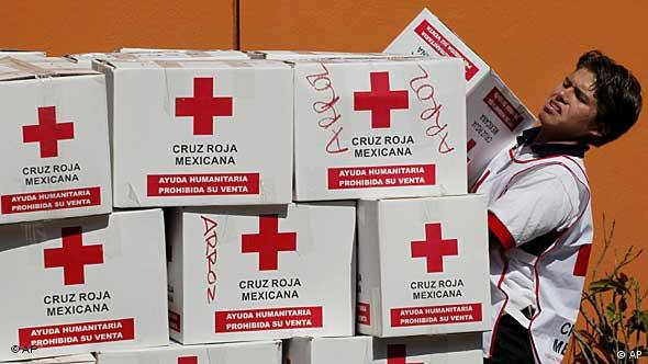 Nothilfe für Haiti vom Roten Kreuz Mexiko (Foto: AP)