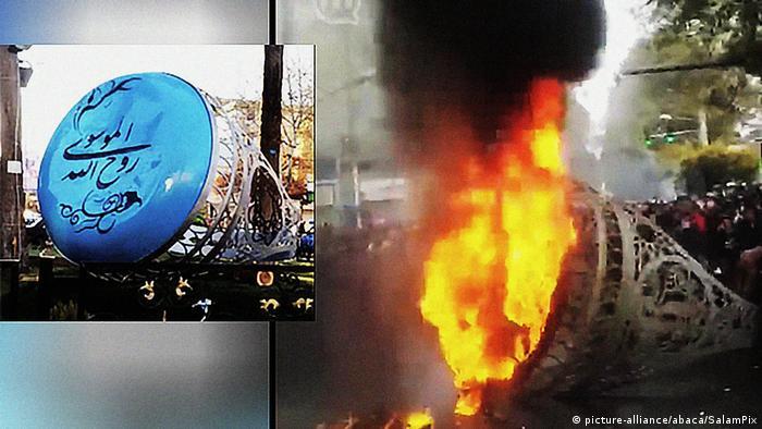 Iran Proteste nach Benzinpreiserhöhung (picture-alliance/abaca/SalamPix)