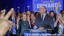 USA Gouverneurswahl Louisiana l Gouverneur John Bel Edwards gewinnt Wahl (picture alliance/AP Photo/M. Hinton)