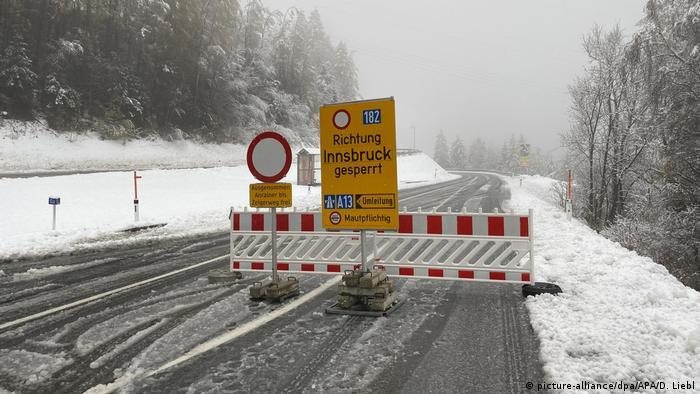 Roads near Innsbruck were closed