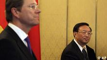 China Deutschland Yang Jiechi und Guido Westerwelle in Peking
