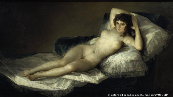 Goya's La Maja desnuda (die nackte Maja)(picture-alliance/Leemage/L. Ricciarini/AUSSCHNITT)
