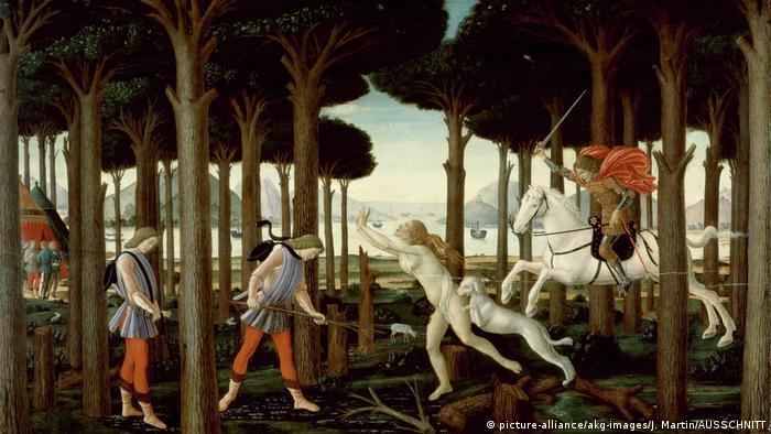 An excerpt from Sandro Botticelli's Story of Nastagio Degli Onesti (picture-alliance/akg-images/J. Martin/AUSSCHNITT)