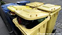 Gelbe Tonnen für Verpackungsmüll
