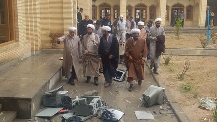 Iran Proteste - Anschlag auf eine Religionsschule in Kazerun