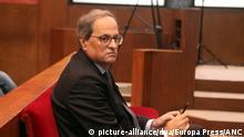 Spanien Quim Torra Regionalpräsident von Katalonien vor Gericht