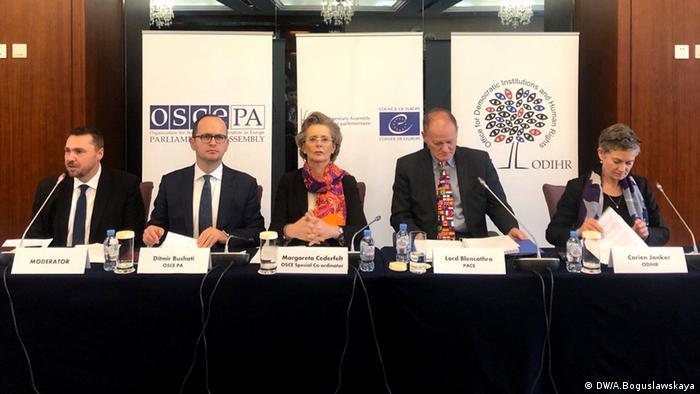 Пресконференція представників ОБСЄ за підсумками парламентських виборів в Білорусі