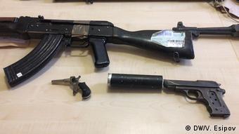 Конфискованное у чеченских преступных группировок в Берлине оружие