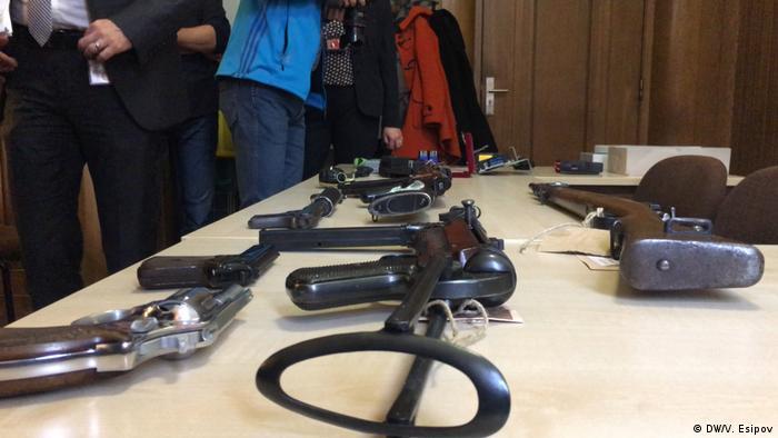 Конфискованное у преступников оружие