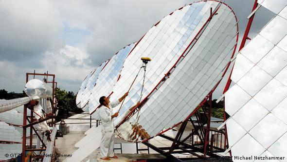Solarkocher in Afrika (Quelle: GTZ/Netzhammer)