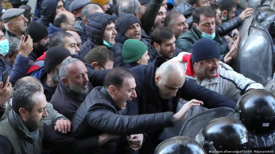 Georgien   Proteste in Tiflis