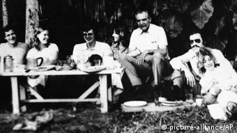Йозеф Менгеле с друзьями в Бразилии