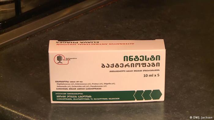 Un paquete de bacteriófagos de Georgia.