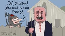Karikatur Sergey Elkin Belarus Putin