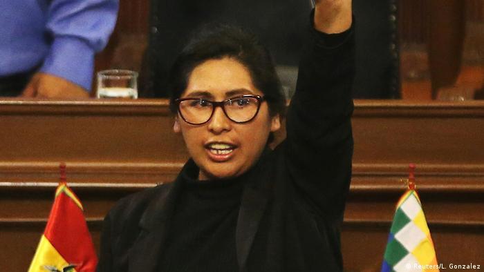 Bolivien Senatorin Monica Eva Copa Murga