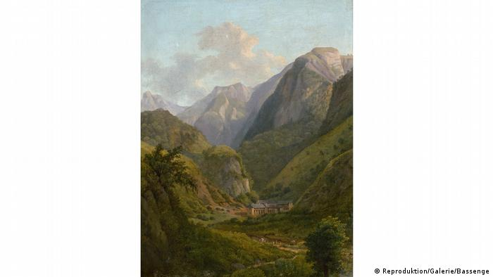 Painting of the Pyrenees by Alexandre Louis Robert Millin du Perreux (Reproduktion/Galerie/Bassenge)