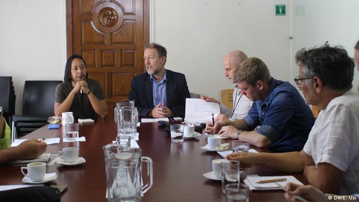Jan Jarab durante su encuentro con un grupo de periodistas en la Ciudad de México.