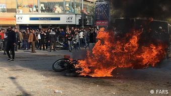 Iran Protest Benzinpreise (FARS)