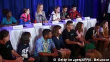 UNICEF New York | PK Klage 16 Kinder wegen Klimakrise | Greta Thunberg & Iris Duquesne & Alexandria Villaseñor u.a.