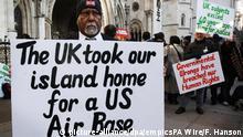 Großbritanien   Chagos-Insulaner am High Court