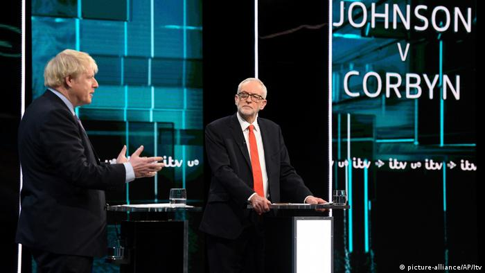 Johnson and Corbyn during the debate