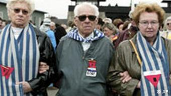 Survivors of Mauthausen at a 2002 memorial function