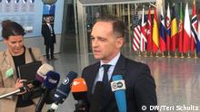 Bundesaußenminister Heiko Maas, NATO-Ministerrat in Brüssel. 20.11.2019. Foto: Teri Schultz, DW, alle Rechte