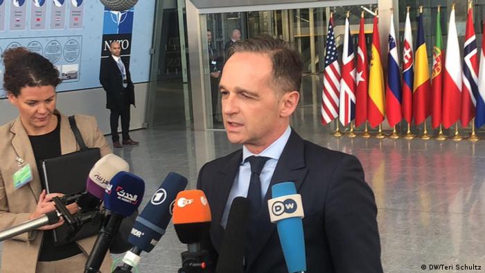 Brüssel NATO-Ministerrat Maas (DW/Teri Schultz)