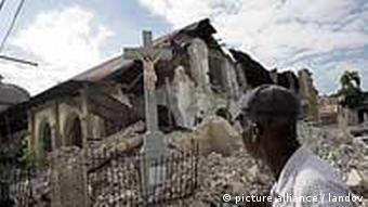 A church in Port-au-Prince, Haiti