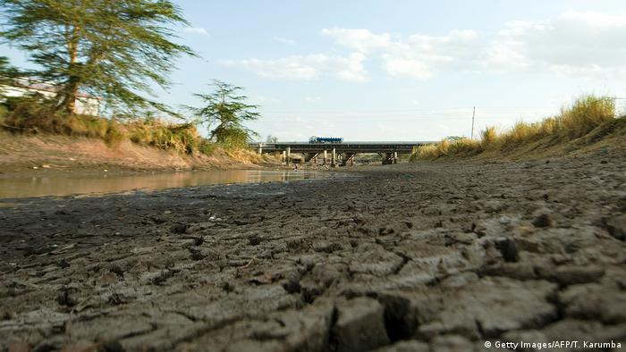 A dried up river bed in Kenya (Getty Images/AFP/T. Karumba)