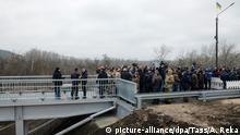 Ukraine | Eröffnung der restaurierten Brücke an der Grenze zwischen der Ukraine und Lugansk Region