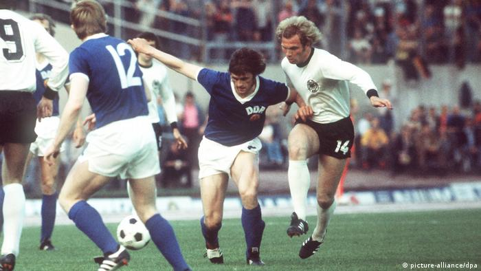 Fußball-WM 1974: BRD - DDR 0:1 Uli Hoeneß (picture-alliance/dpa)