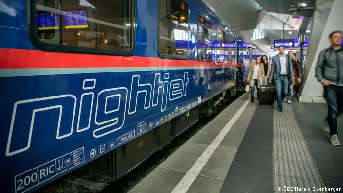 Ночной поезд Nightjet австрийской железной дороги