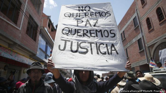 Bolivien Proteste (picture-alliance/AP Photo/N. Pisarenko)