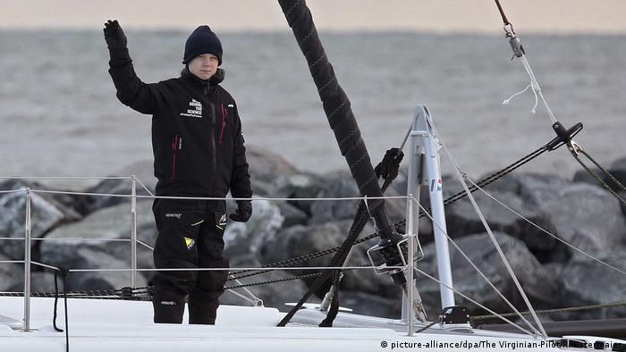 Greta Thunberg auf dem Rückweg nach Europa