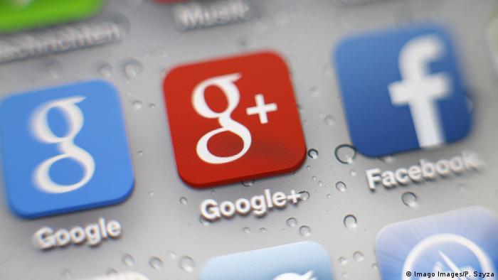 Symbolbild Apps Facebook, Google und Google + Anwendungen