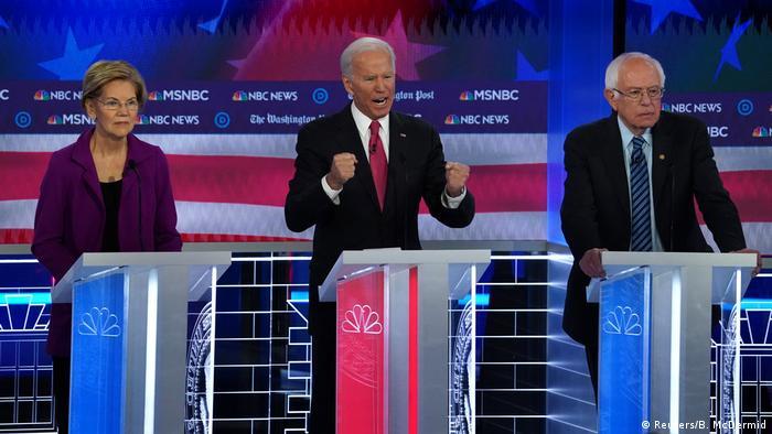 Warren, Biden y Sanders encabezan los sondeos.