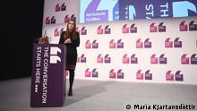 Reykjavik Global Forum of female political leaders: Icelandic Prime Minister Katrin Jakobsdottir
