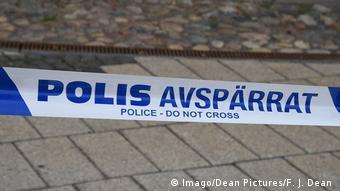 Sweden Polizeiabsperrung in Malmö Symbolbild