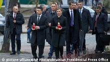 Ukraine Maidan Gedenken mit Präsident Selenskyj