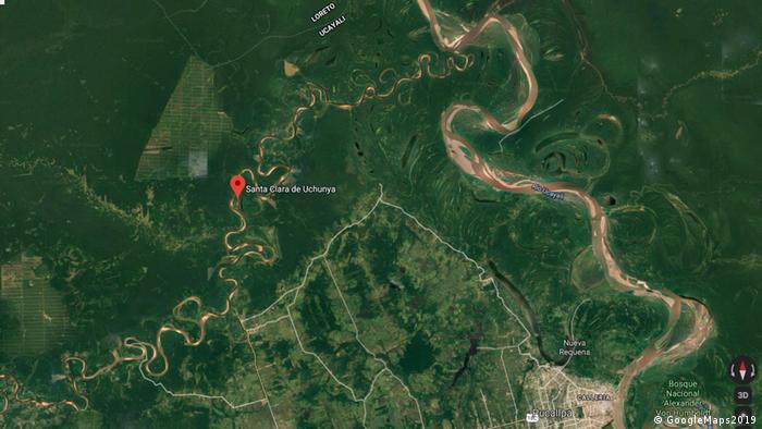 Screenshot, Googlemaps, Santa Clara de Uchunya, Ucayali Peru