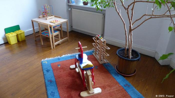 Children's toys in a room at the Bonn refuge (DW/O. Pieper)