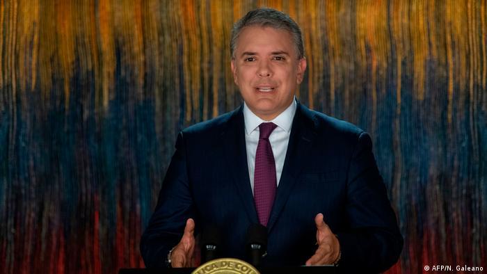 Kolumbien Bogota Präsident Ivan Duque (AFP/N. Galeano)