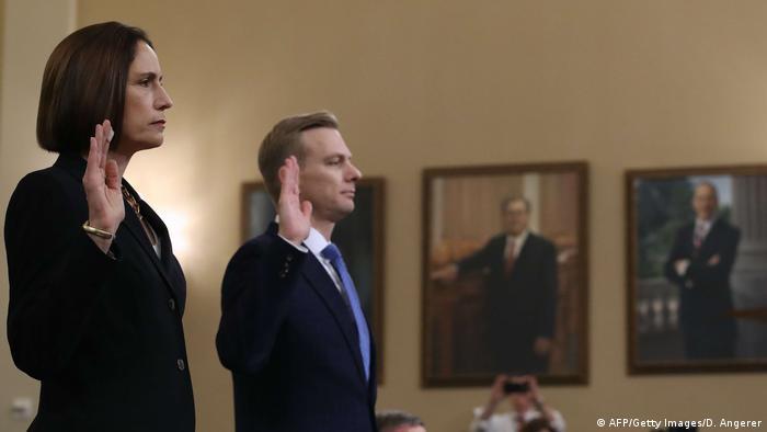 Фіона Гілл та Девід Холмс під час свідчень у Палаті представників
