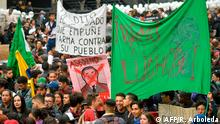 Kolumbien Bogota Proteste und Streik