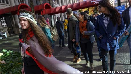 Youth climate activist Hanna Edenshaw in Vancouver