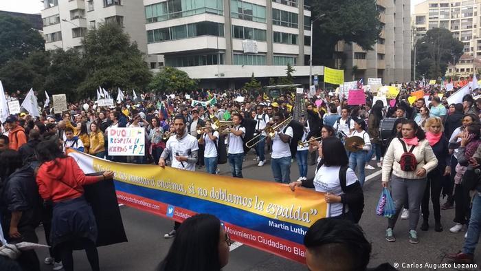 Marcha del Paro Nacional en Bogotá, el 21 de noviembre de 2019