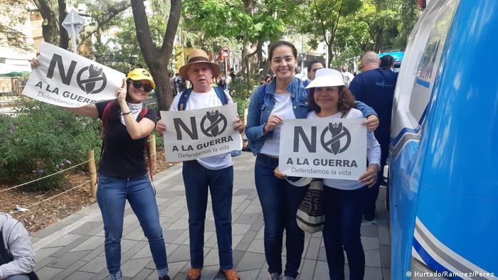 Kolumbien Medellin Paro Nacional Landesweiter Streik gegen Regierung (Hurtado/Ramirez/Pérez)P